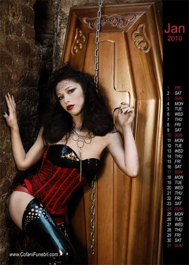 Dark Cozy Girl Wallpaper Hot Gothic Coffins Cofanifuneburi S 2010 Calendar Is