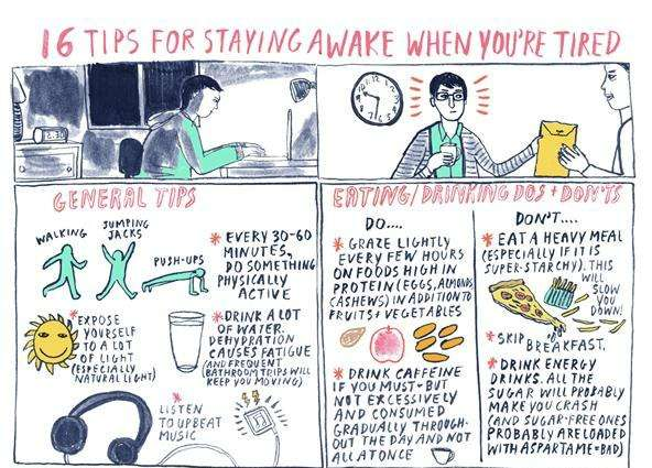 Energy Amping Infographics  how to stay awake when tired