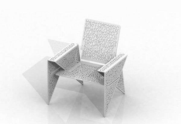 Stuhl Design Flat-pack Origami Furniture : Iga Chair