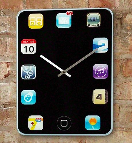 Cool Iphone Wallpaper Ideas Smartphone Inspired Timepieces Iphone Wall Clock