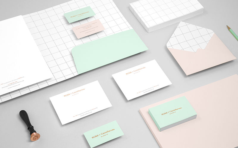 Contemporary Corporate Stationery  Lifestyle Branding