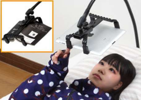 Inverted Gadget Holders Lying Down Tablet Stand