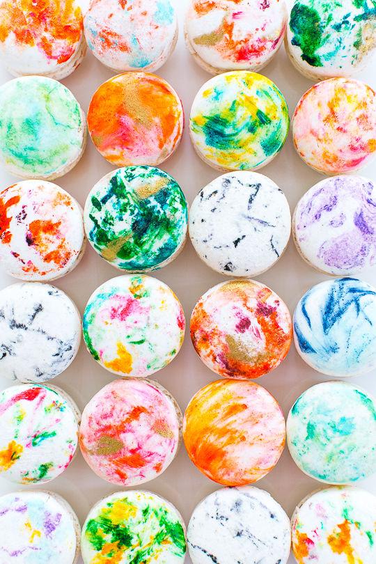 Donut Wallpaper Cute Diy Marbled Macarons Macaron Decoration