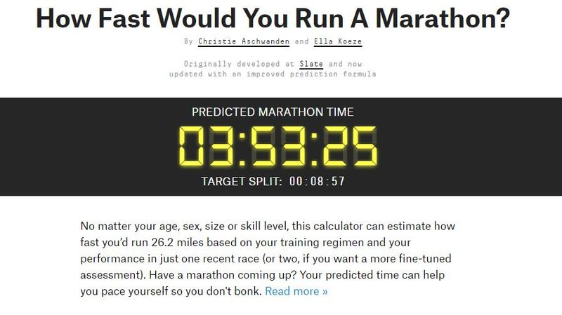 Marathon Pace Calculators  marathon calculator