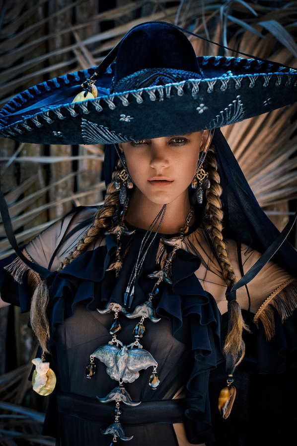 Beautiful Gothic Girl Wallpaper Mexican Holiday Inspired Editorials Marie Claire Dia De