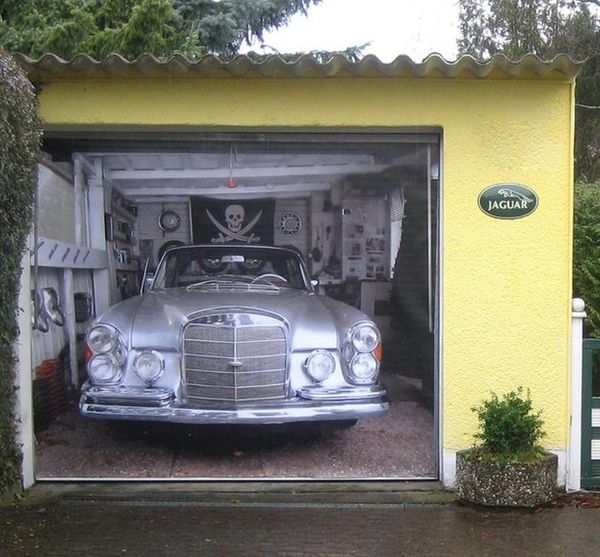 Classic Car Wallpaper Murals Tricky Garage Door Decals Mercedes Garage Door Mural