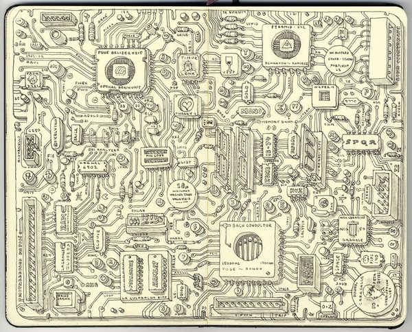 Iphone X Motherboard Wallpaper Detailed Moleskine Sketches Update Moleskine Sketches