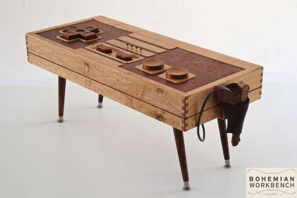 Wohnzimmertisch Cube Functional Wooden Gamer Tables : Nintendo Table