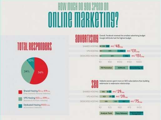 Vital Viral Marketing Charts  online marketing budgets