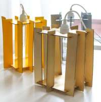 DIY Cardboard Cutout Lamps : Pendant Lights