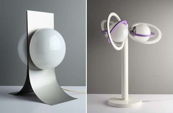 Futuristic Desk Lamp Retro Sci-fi Lamps : Space Age Lights
