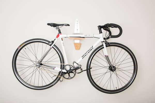 Sleek Bicycle Wall Mounts Statement Bike Rack