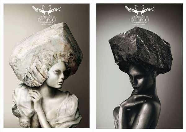 Stone Hairstyles Milan Salon Intrecci\u0027s Ad Campaign Emphasizes