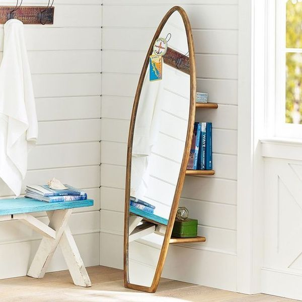 Fashion For Home Couchtisch Beach-inspired Mirrors : Surfboard Storage Mirror