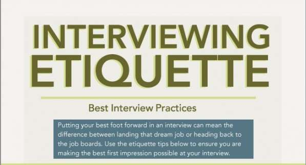 Proper Interview Etiquette Infographics  video editing internship