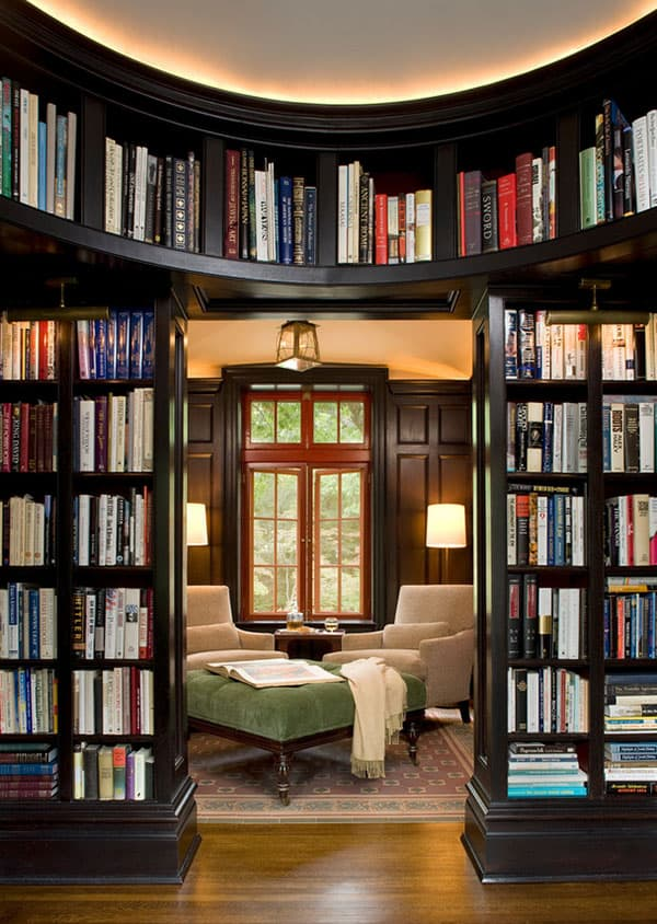 These 38 Home Libraries Will Have You Feeling Just Like Belle - home library ideas