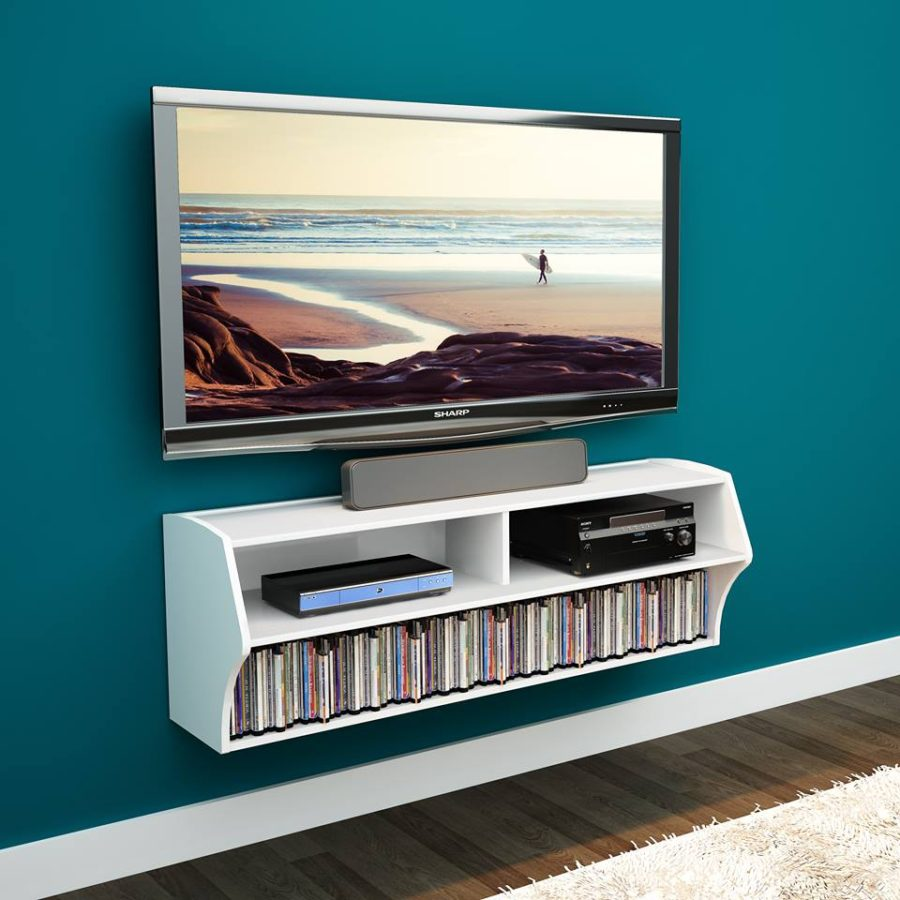 Diy Small Entertainment Center 21 Floating Media Center Designs For Clutter Free Living Room