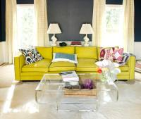 Chartreuse and Gray Accent Colors - Trendir