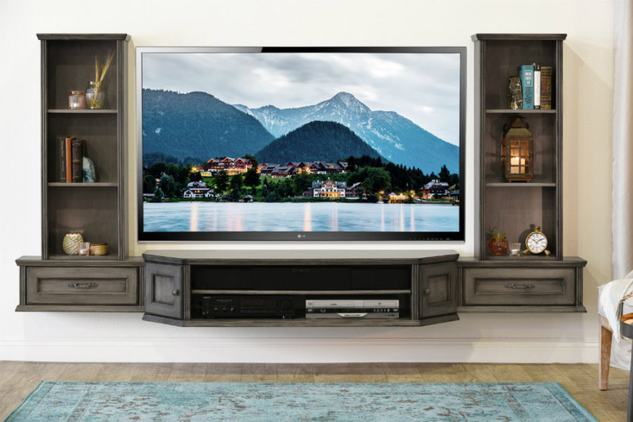 21 Floating Media Center Designs for Clutter-Free Living Room - the living room center