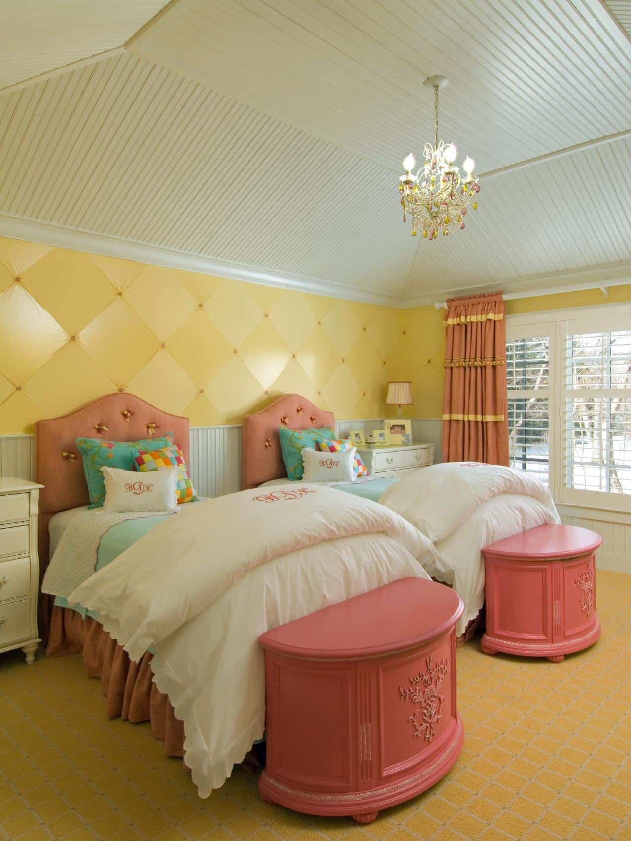 Pink And Yellow Bedrooms Beige Yellow And Pink Room Trendir