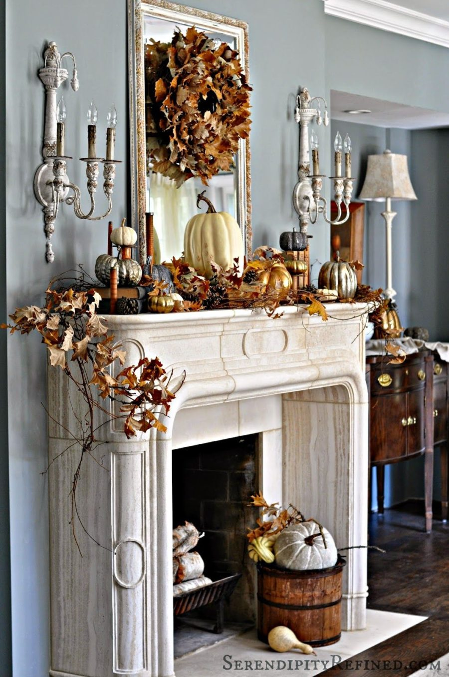 Mantel Trend 15 Fall Decor Ideas For Your Fireplace Mantle