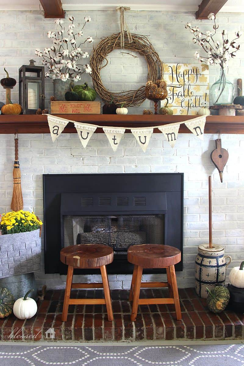 Hauseingang Dekorieren 'tis Autumn: Living Room Fall Decor Ideas