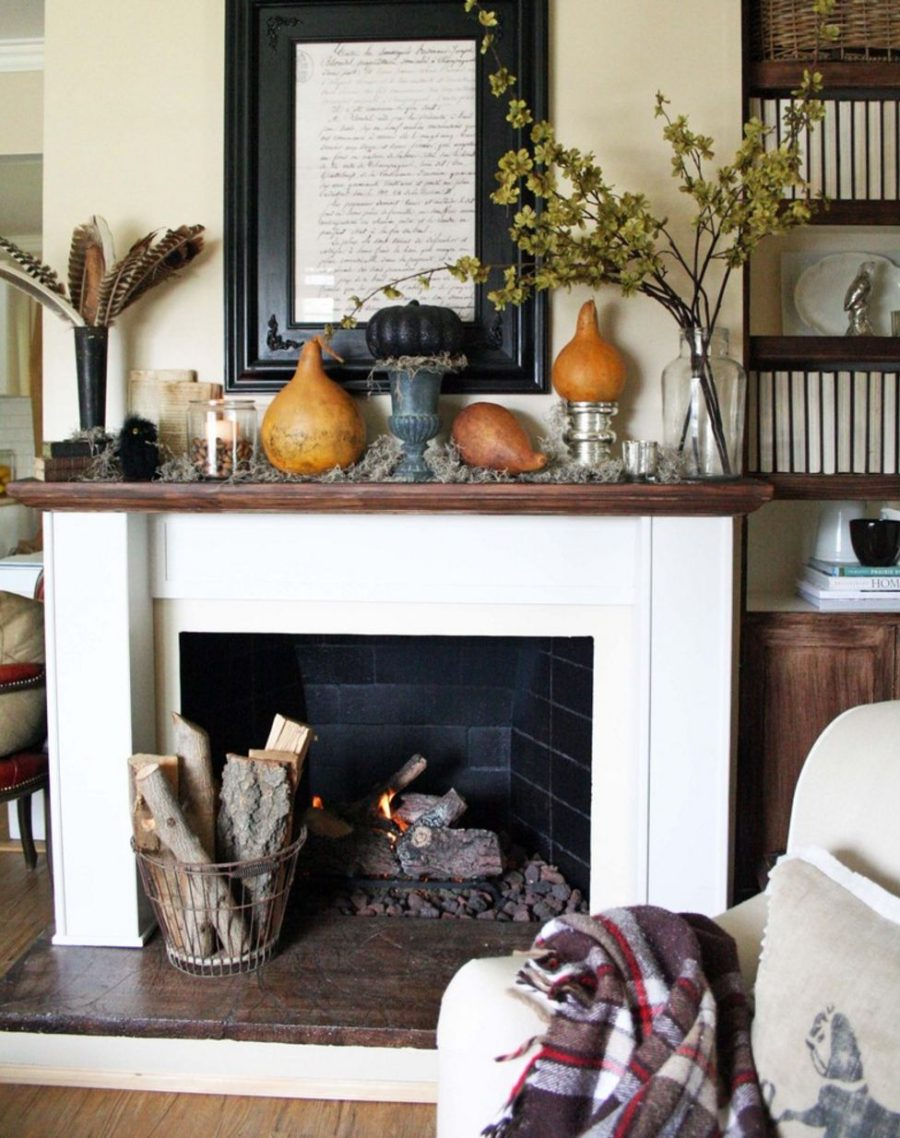 Decorations For Fireplaces 15 Fall Decor Ideas For Your Fireplace Mantle