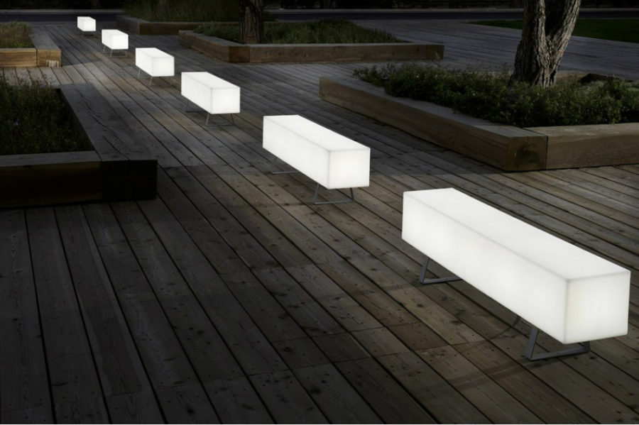 Modern Outdoor Bench Backlit Furniture Will Fill Your Home With Radiance