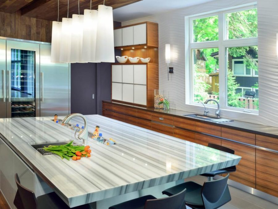 Contemporary Kitchen Island Lighting Trends And Novelties: Unusual Kitchen Countertops