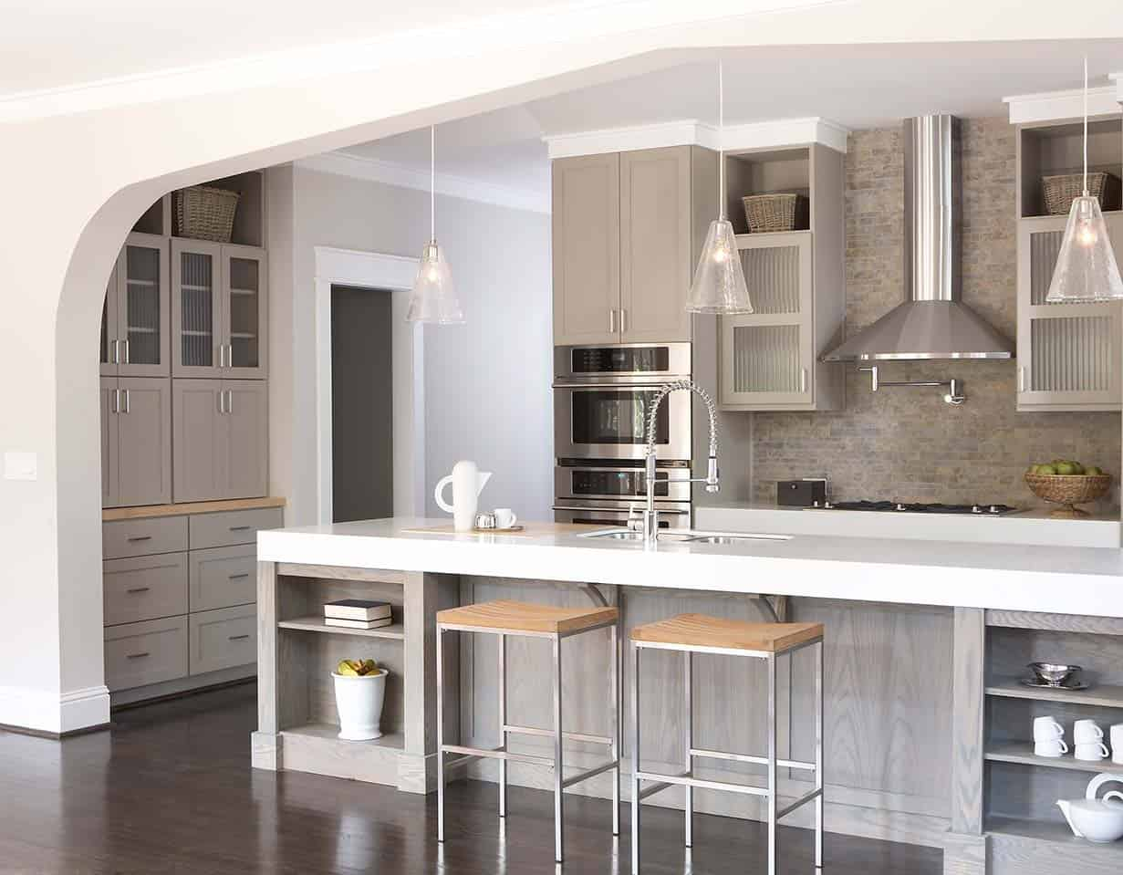 Gray Kitchen Cabinets Benjamin Moore Top Taupe Paints For Your Kitchen Cabinets