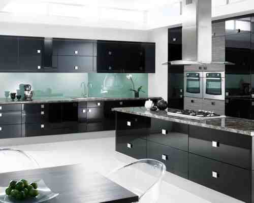 Medium Of Black Cabinet Kitchens