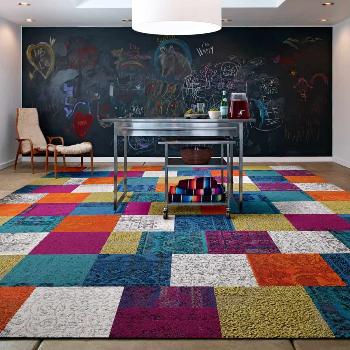 Kinderteppich Gelb These Patchwork Rug Squares By Flor Bring The Room Happiness