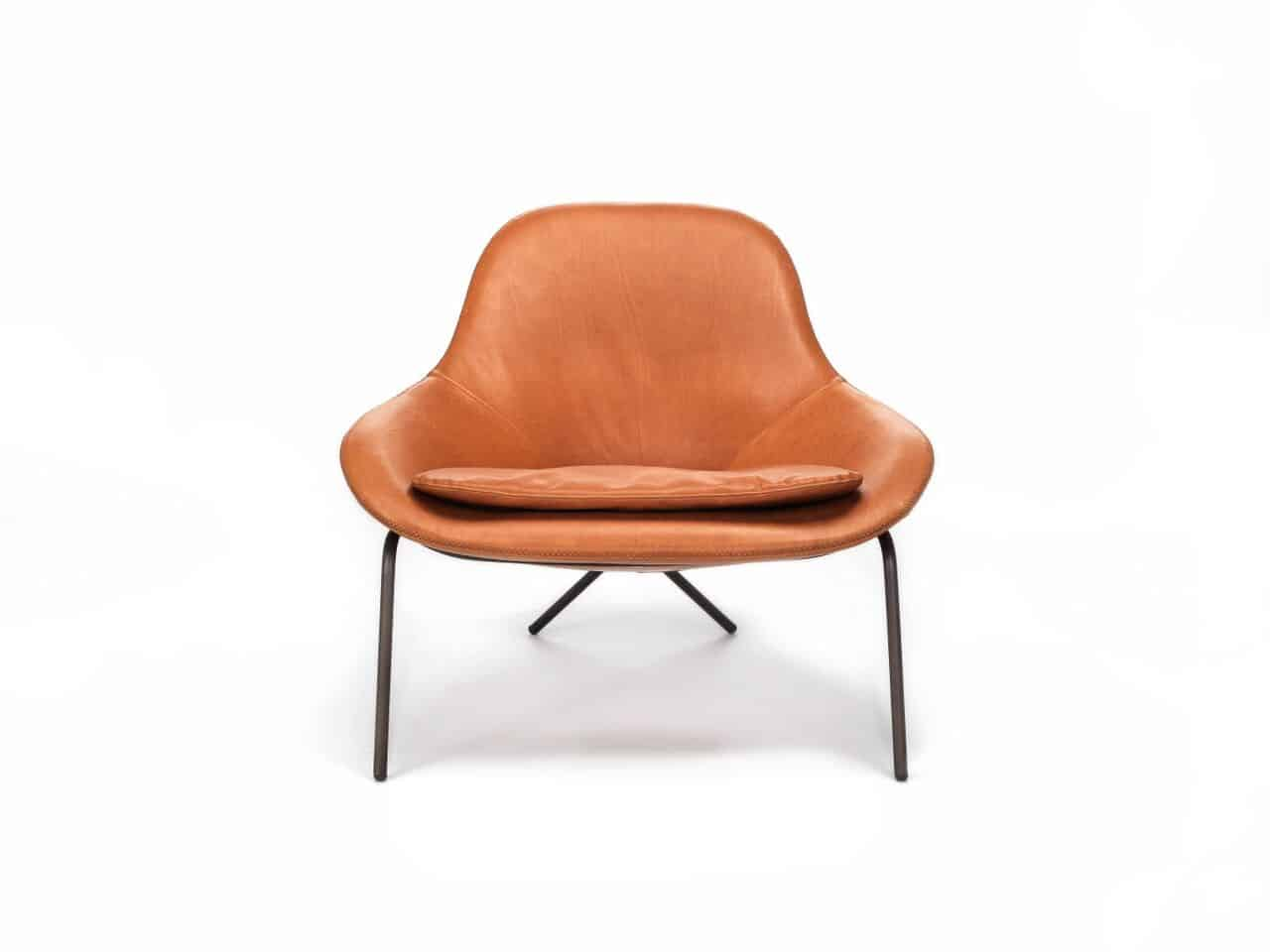 Comfortable Leather Lounge Chair Cross Leg Chair By Magnus Long