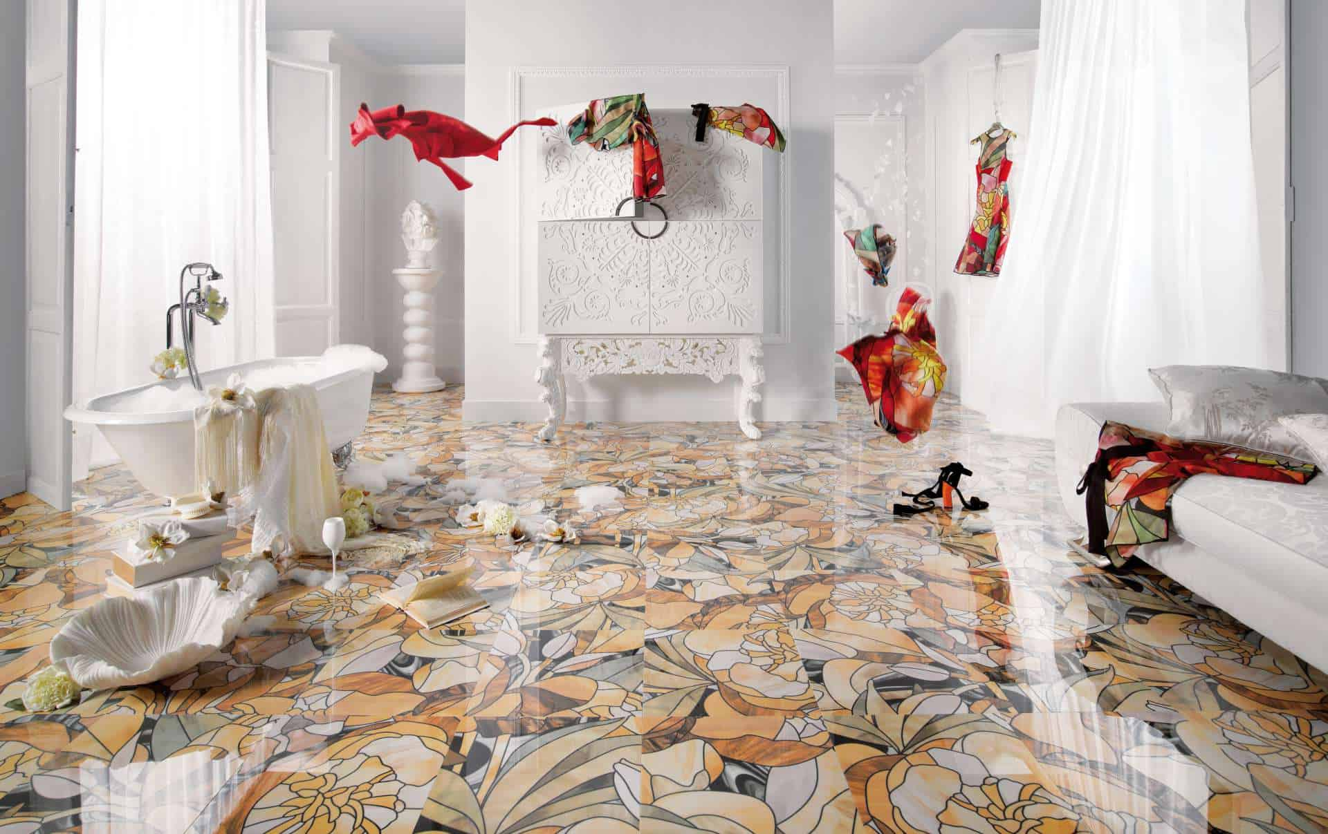 25 Beautiful Tile Flooring Ideas For Living Room Kitchen And Bathroom Designs