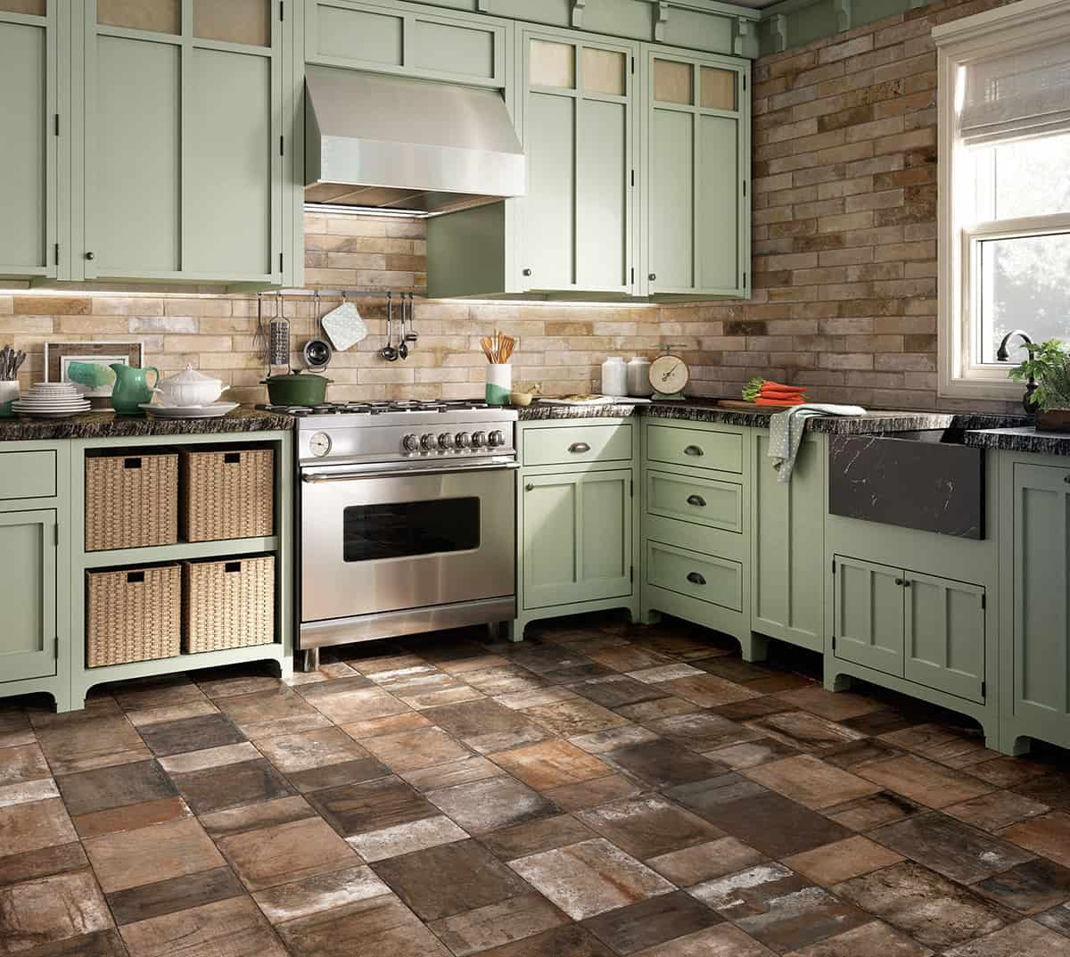beautiful tile flooring ideas for living room kitchen bathroom designs kitchen tiles floor View in gallery terracotta effect flooring tile kitchen terre nuove santagostino