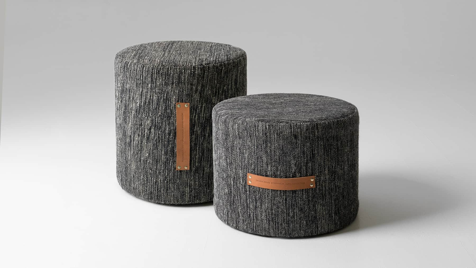 Pouf design upholstered fabric pouf spin by tacchini italia forniture