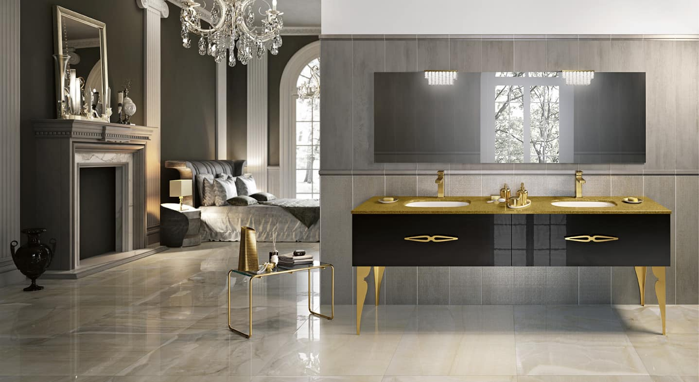 Round Mirror With Light 15 Classic Italian Bathroom Vanities For A Chic Style