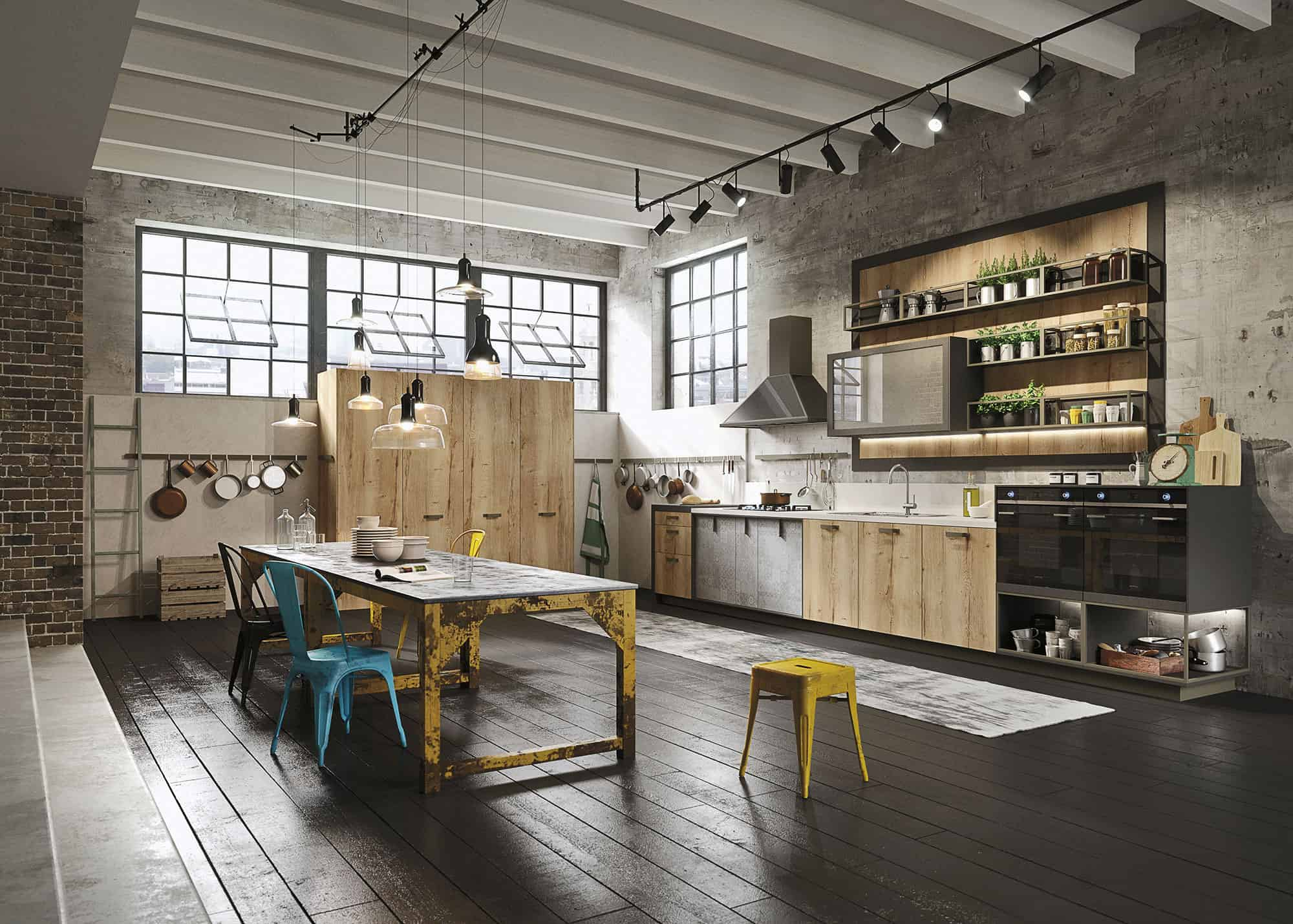 Big Loft Kitchen Design For Lofts 3 Urban Ideas From Snaidero