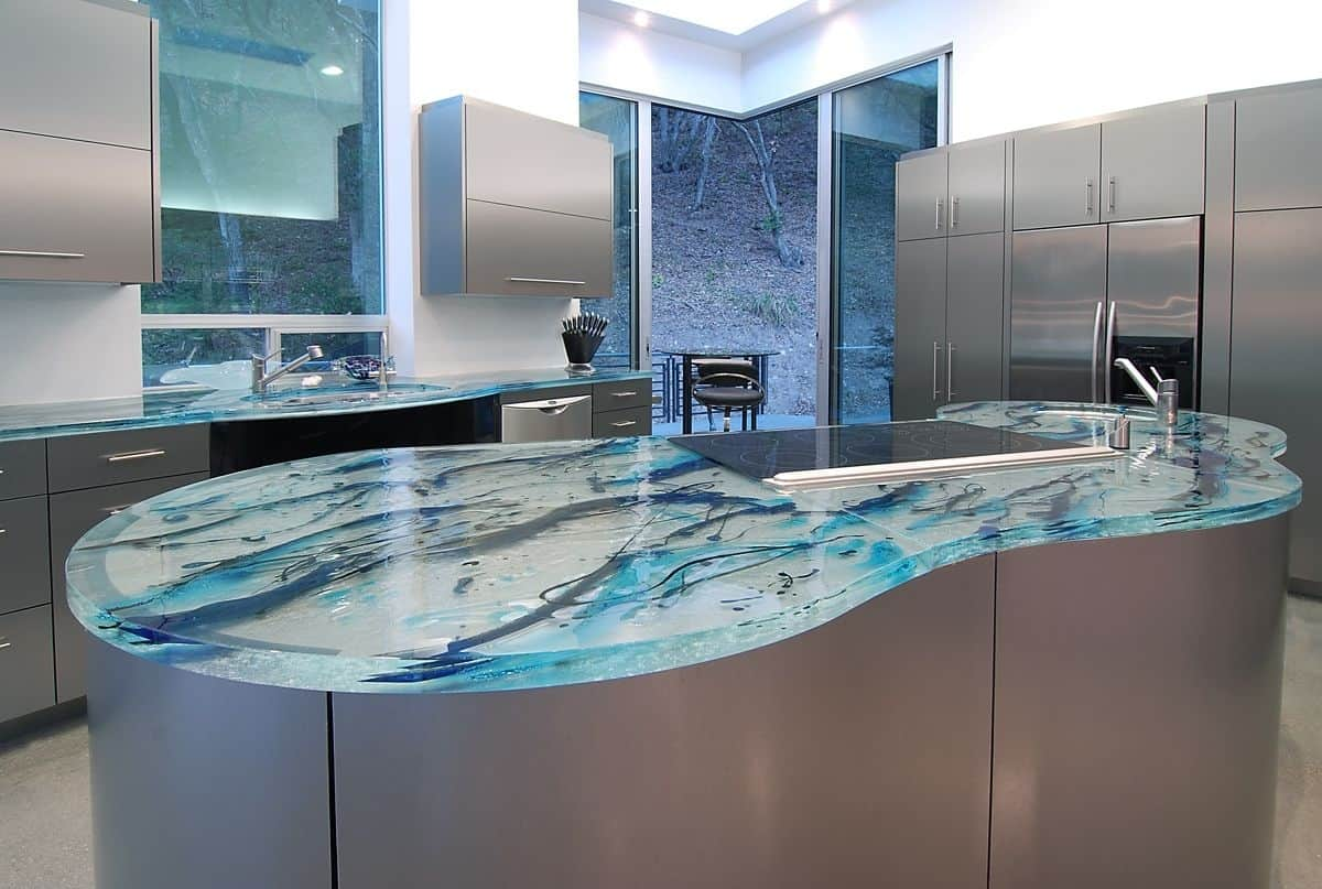 modern kitchen countertops from unusual materials kitchen countertops ideas View in gallery modern countertops unusual material kitchen glass 6
