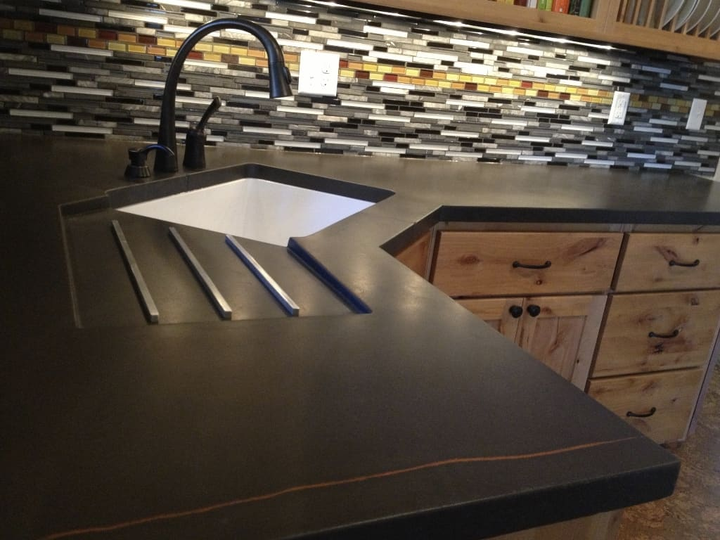 modern kitchen countertops from unusual materials concrete kitchen countertops View in gallery modern countertops unusual material concrete