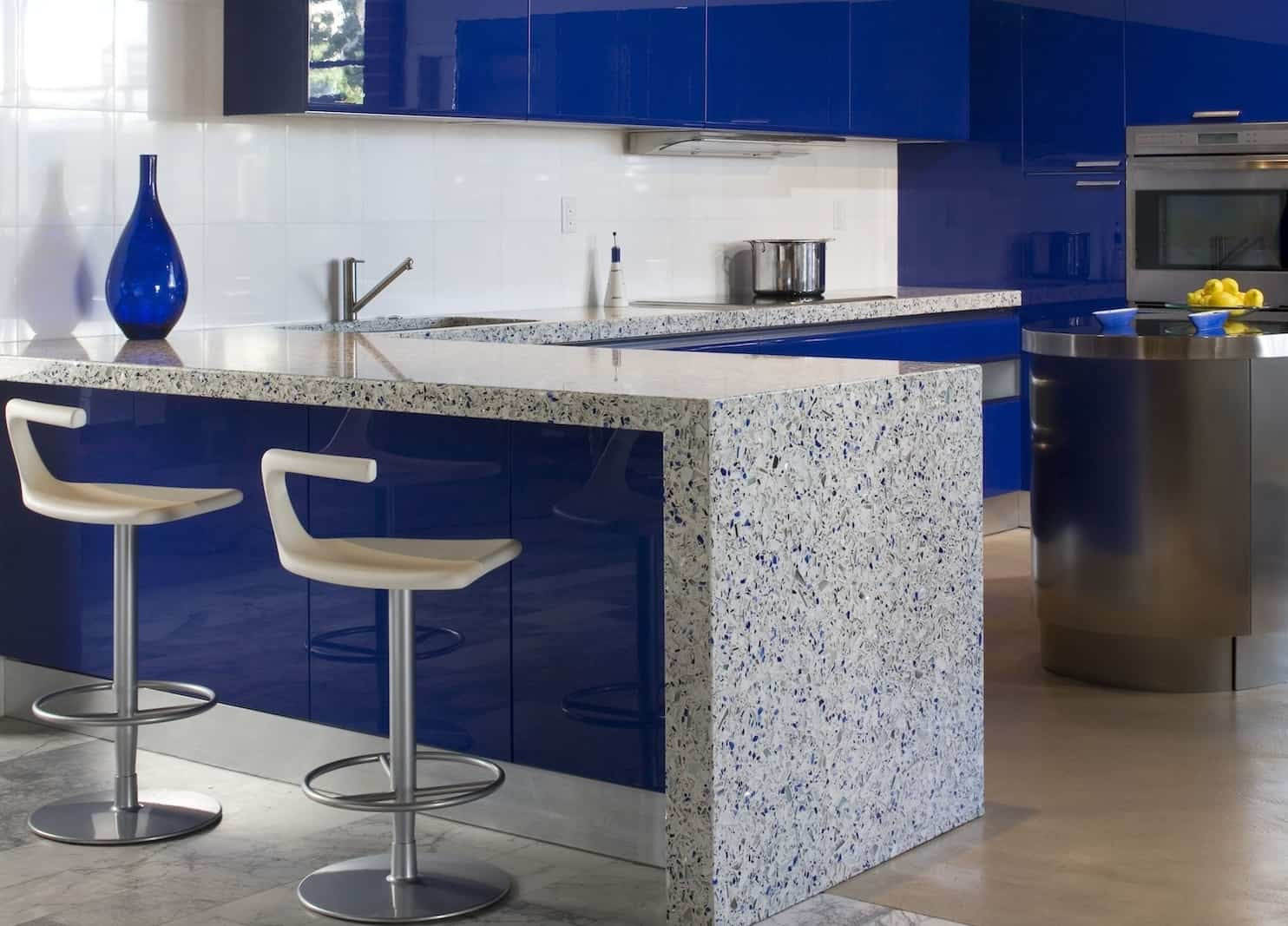 modern kitchen countertops from unusual materials modern kitchen countertops View in gallery modern countertops unusual material kitchen vetrazzo