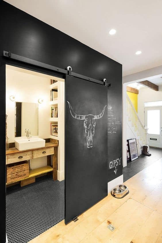 Kreidetafel Wand Architectural Accents: Sliding Barn Doors For The Home