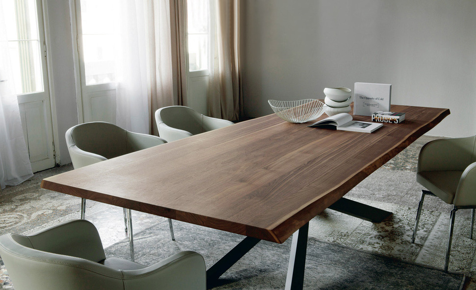 Esstisch Wenge Dining Table With Irregular Solid Wood Edges By Cattelan