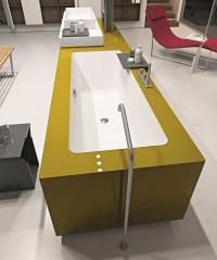 Ergonomic Bathroom System from Makro Integrates Bathtub