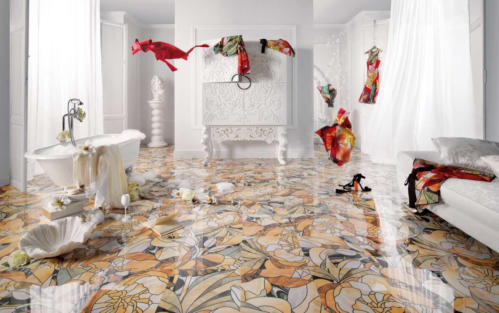 beautiful tile flooring ideas for living room kitchen bathroom designs kitchen tiles floor 25 Beautiful Tile Flooring Ideas for Living Room Kitchen and Bathroom Designs
