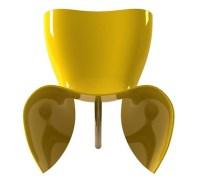 Fibreglass Chairs  new Felt fibreglass chair by Cappellini