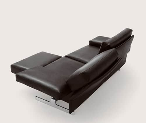Sofa Upholstery Parts Leather Sofa With Adjustable Back Rests And Movable