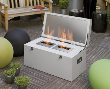 Hot Fireplace Design Ideas \u2013 chest mobile fireplace by Atria - design ideas