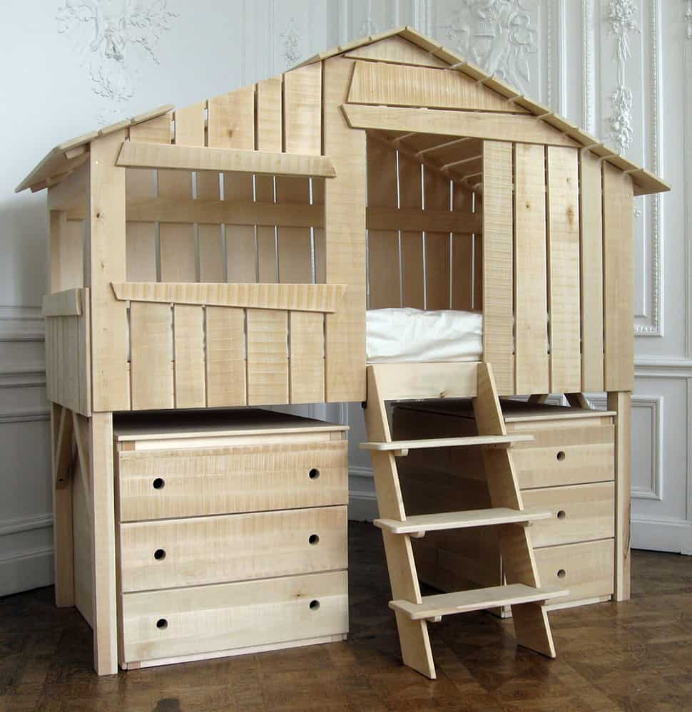 Kids Playhouse Beds From Mathy By Bols Loft Treehouse Canopy - Lit D Enfant
