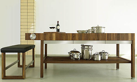 Contemporary Kitchen Furniture from Schulte Design - the Grace kitchen - kitchen table designs
